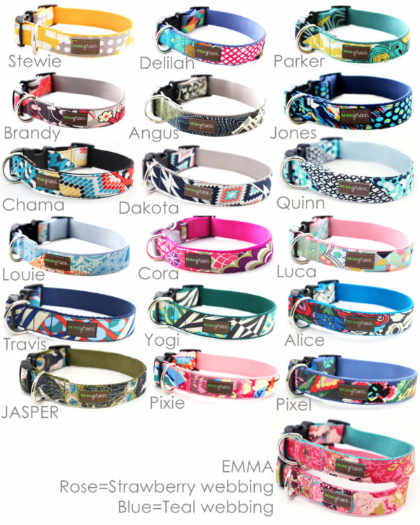 Metal Personalized Engraved Buckle Dog Collar *Classic Styles