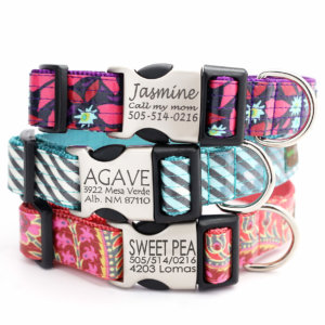 Laminated dog collars Monogramed