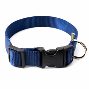 Navy Nylon Dog Collar