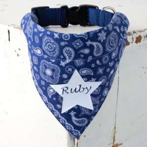 Blue Personalized Bandana