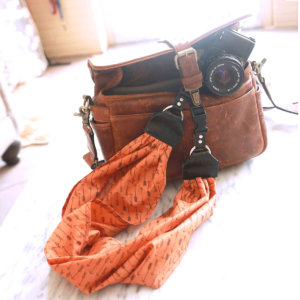 arrow Orange Scarf Camera Strap