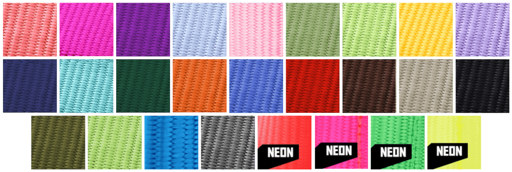 webbing swatches