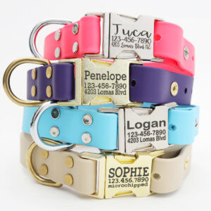 waterproof dog collar side release buckle