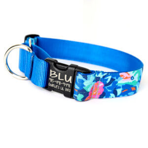 wide floral martingale collar