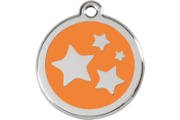 Red Dingo Stars Dog Tag - 11 colors!