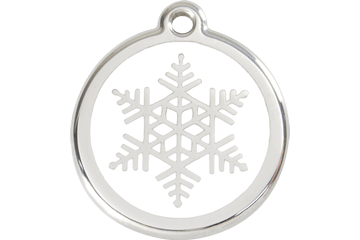 Red Dingo Snowflake Dog Tag