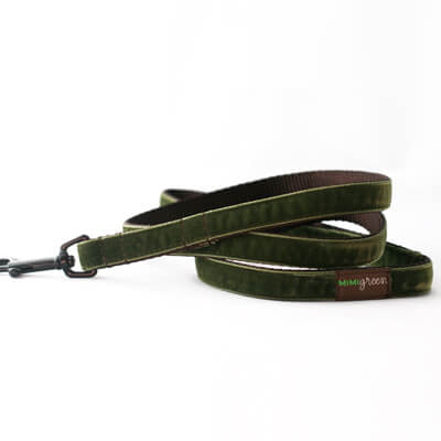 'Hunter' Velvet Dog Collar