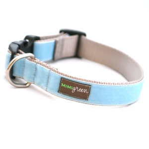 'River' Velvet Dog Collar
