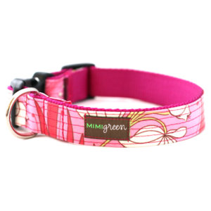 Blossom Laminated Cotton Dog Collar