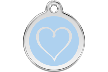 Red Dingo Tribal Heart Dog Tag - 11 colors!