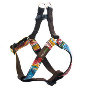 Que Chula Oilcloth Dog Harness (My Heart)