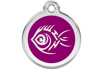 Red Dingo Tribal Fish Dog Tag - 11 colors!