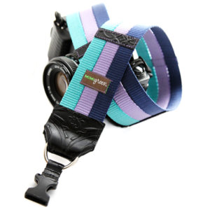 Cool SRL Camera Strap -- Teal, Grape & Navy