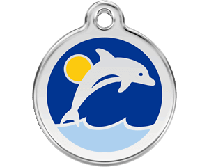 Red Dingo Dolphin Dog Tag