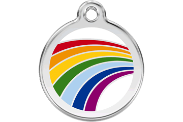 Red Dingo Rainbow Dog Tag